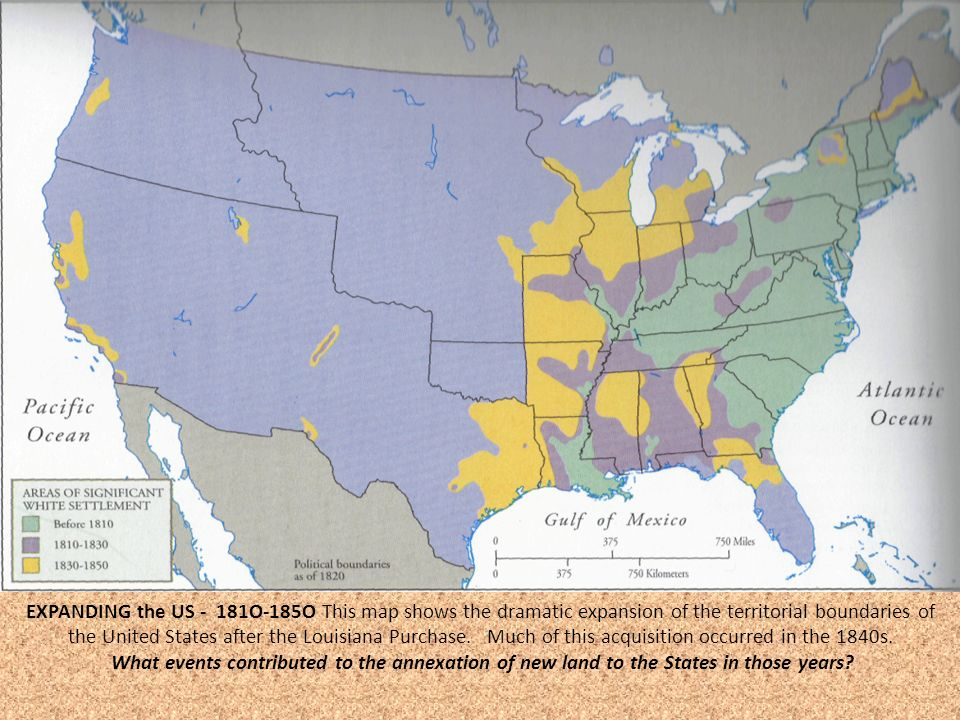 Jump Start Read The Manifest Destiny Handout Ppt Download - Map of us after louisiana purchase