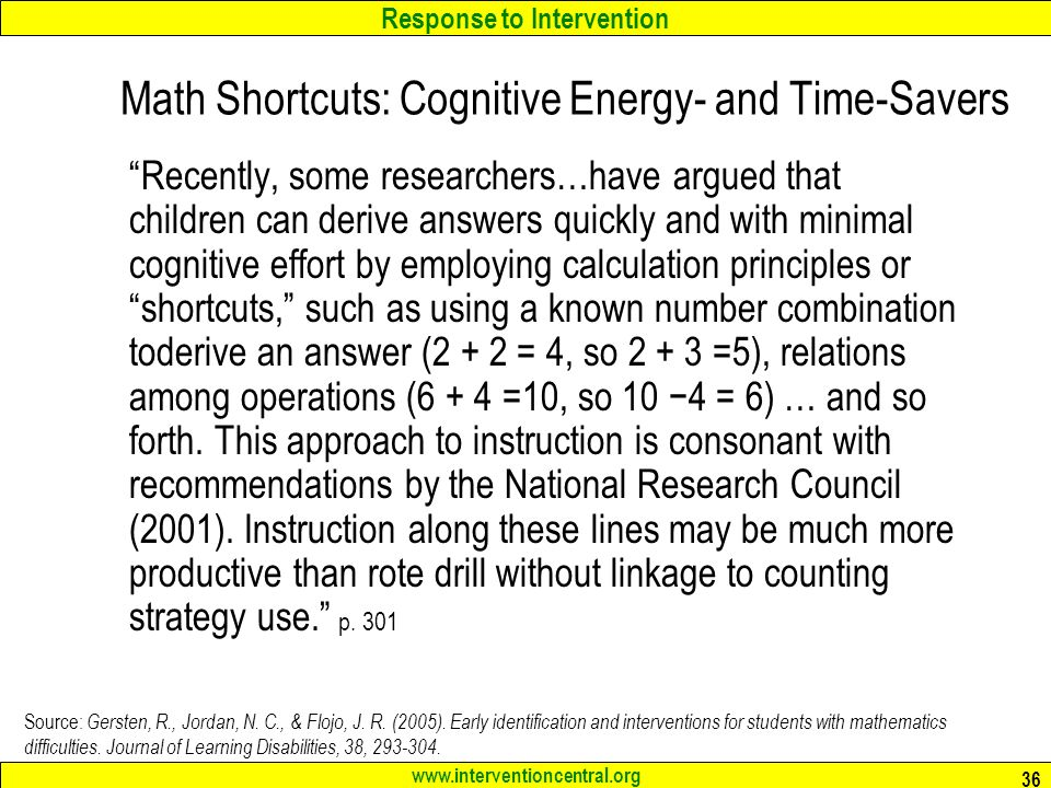 cognitive strategy instruction math