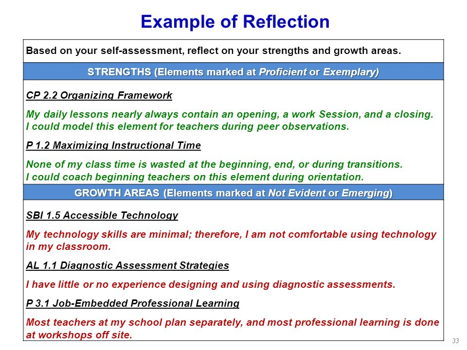 a reflection and self assessment of my life Self reflection - performance self evaluation that he's in control of his/her life and can attain his/her that self-assessment requires an.