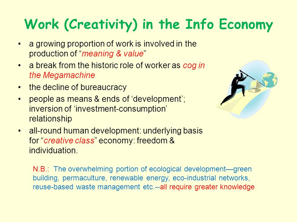 Work (Creativity) in the Info Economy