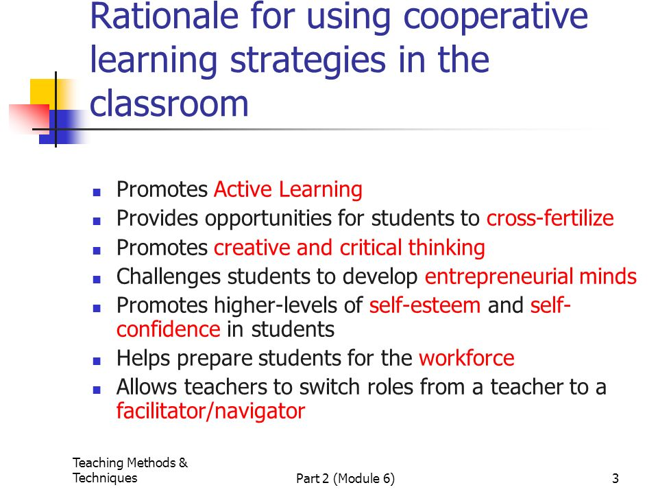 Collaborative Learning In The Classroom : Cooperative learning strategies by phawani vijayaratnam