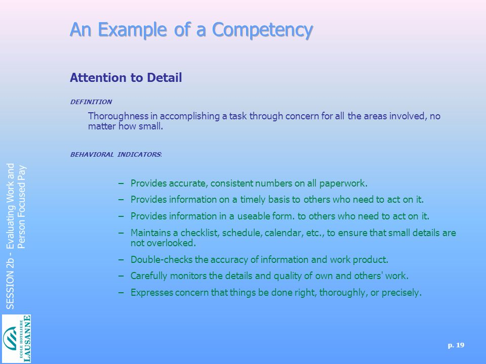 define attention to detail