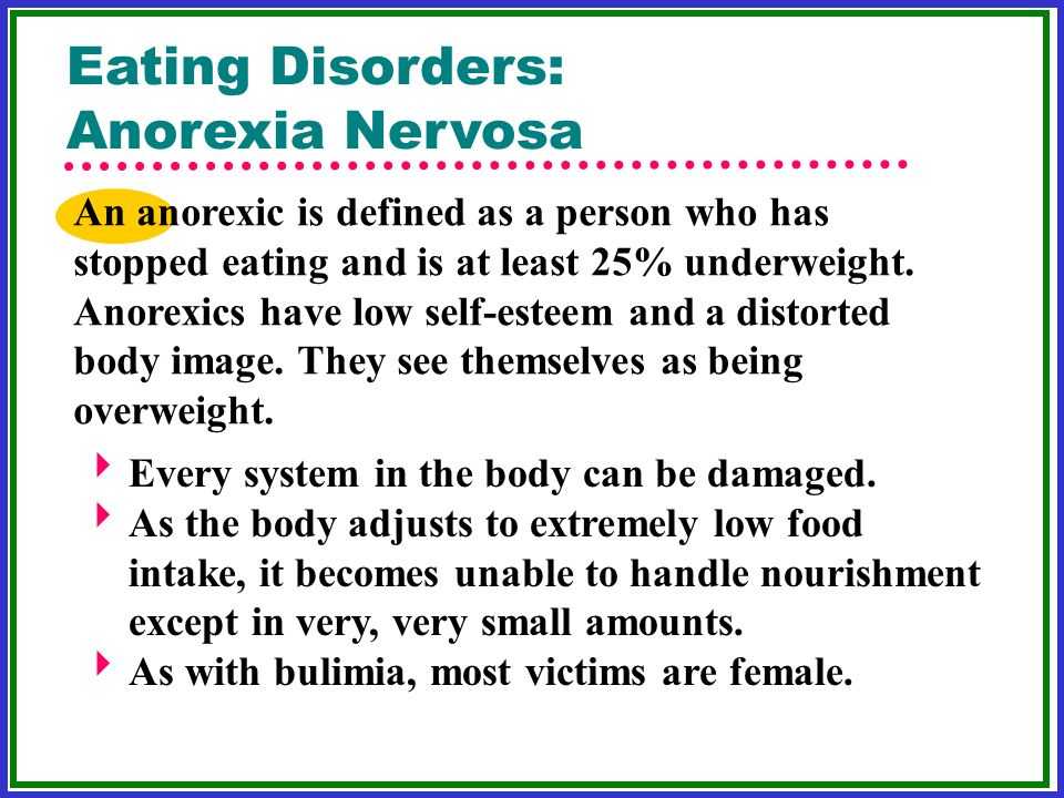 how low self esteem affects anorexia Effects of social class and body image eating disorders result of their eating disorders and the negative effects of low self-esteem and depression.