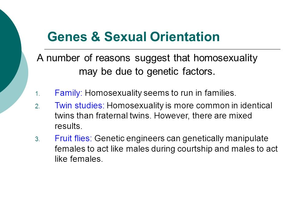 Twins and sexual orientation and genes