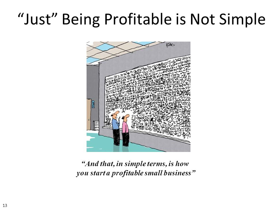 Just Being Profitable is Not Simple