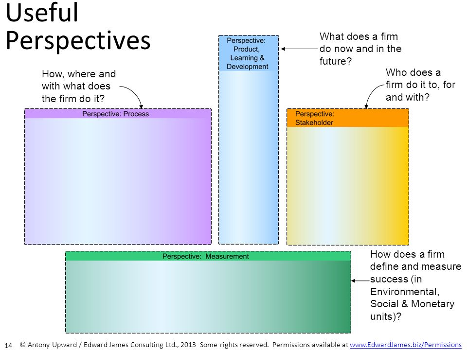 Useful Perspectives What does a firm do now and in the future