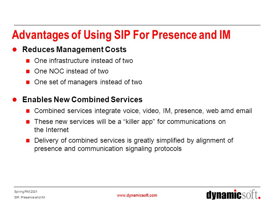Advantages of Using SIP For Presence and IM