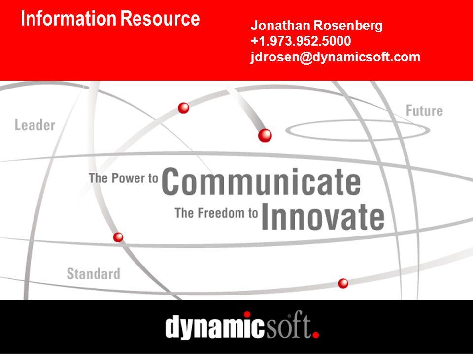 Information Resource Jonathan Rosenberg