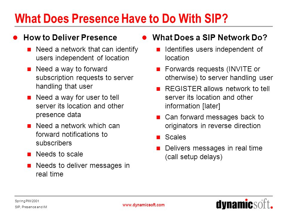 What Does Presence Have to Do With SIP