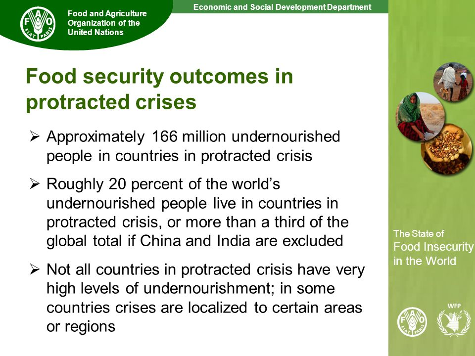 Food security outcomes in protracted crises