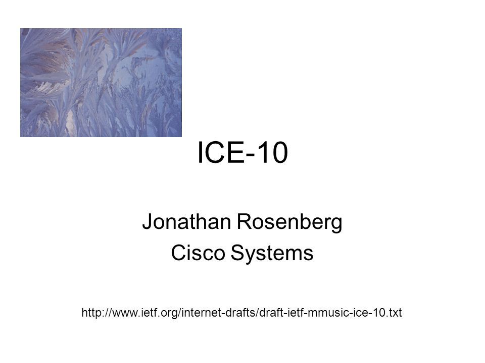 Jonathan Rosenberg Cisco Systems