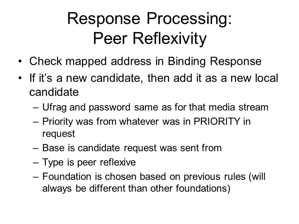Response Processing: Peer Reflexivity