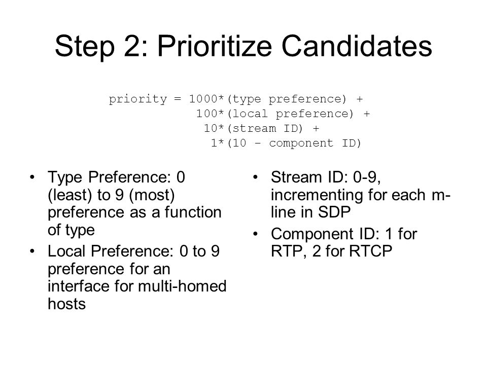 Step 2: Prioritize Candidates