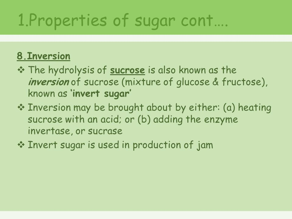 sucrose is an example of