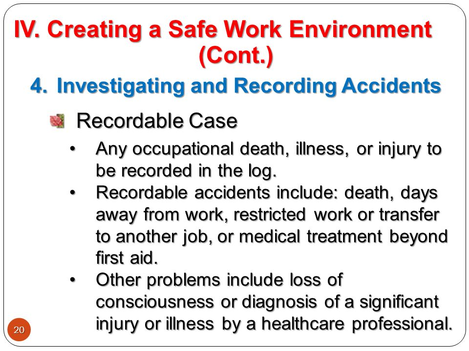 How To Create a Safe Working Environment