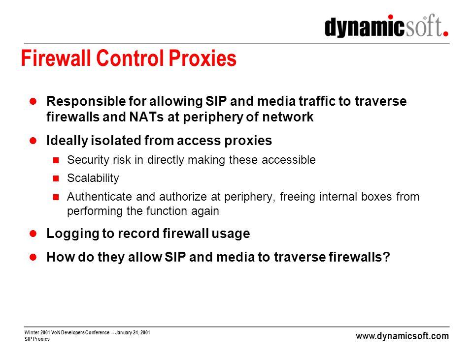 Firewall Control Proxies