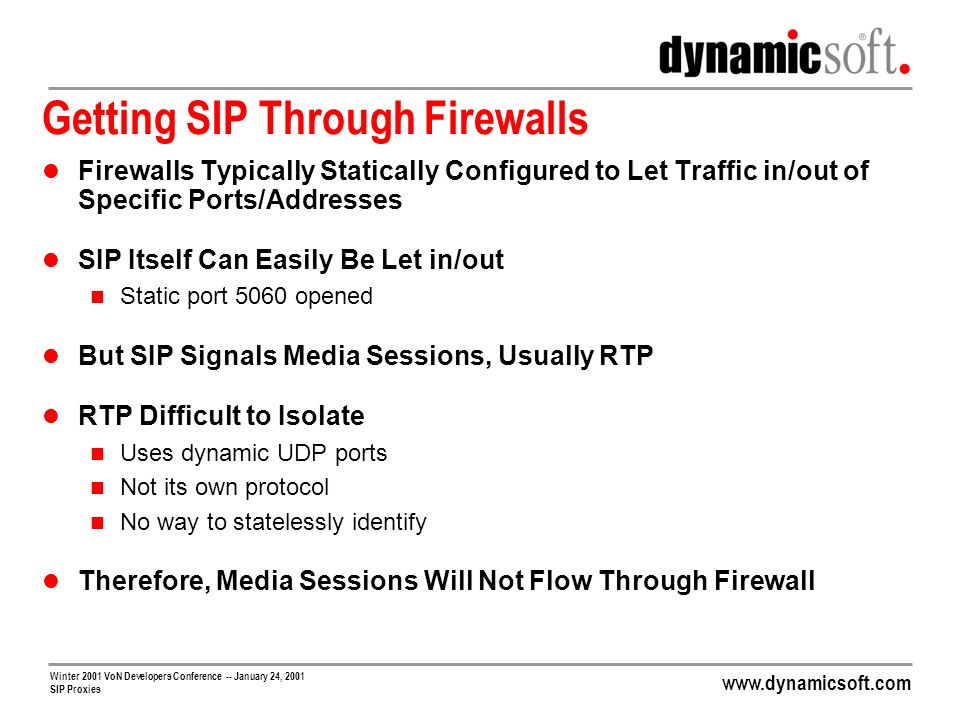 Getting SIP Through Firewalls