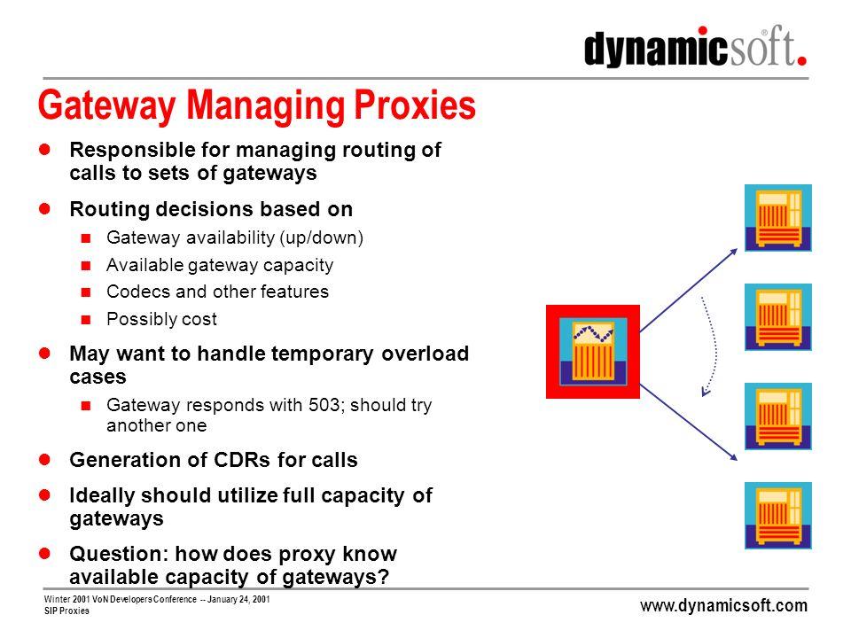 Gateway Managing Proxies