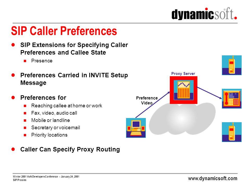 SIP Caller Preferences