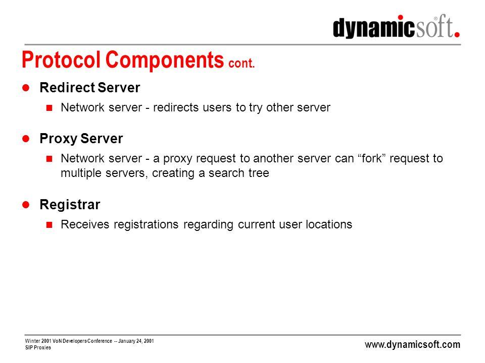Protocol Components cont.