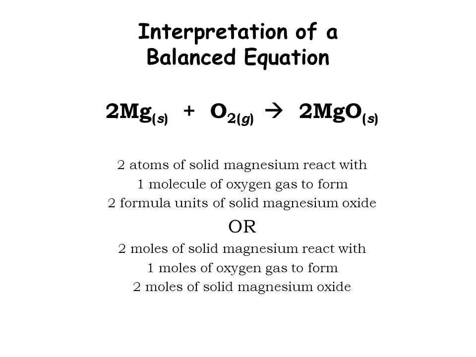 Magnesium Oxide Structure : Chemical equations reactions ppt video online download