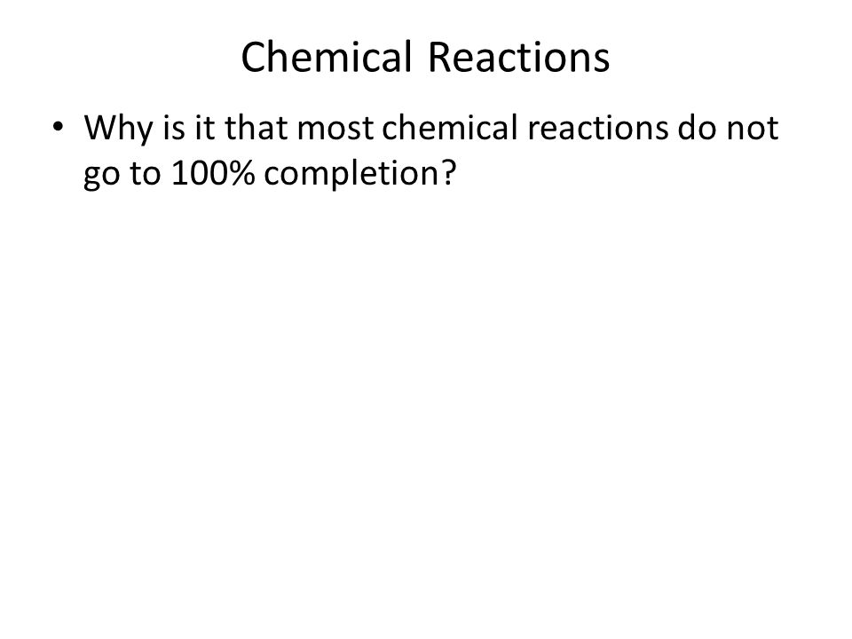 When Will Metathesis Reactions Proceed To Completion Term Paper
