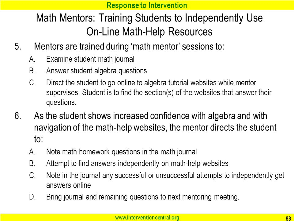Math Reasoning: Assisting the Struggling Middle and High School ...