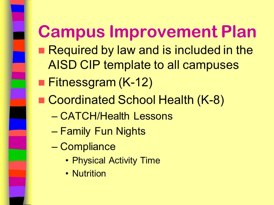 campus improvement plan The 2017 - 2018 campus improvement plan will be posted once it is approved by the chisd school board thank you for your patience.