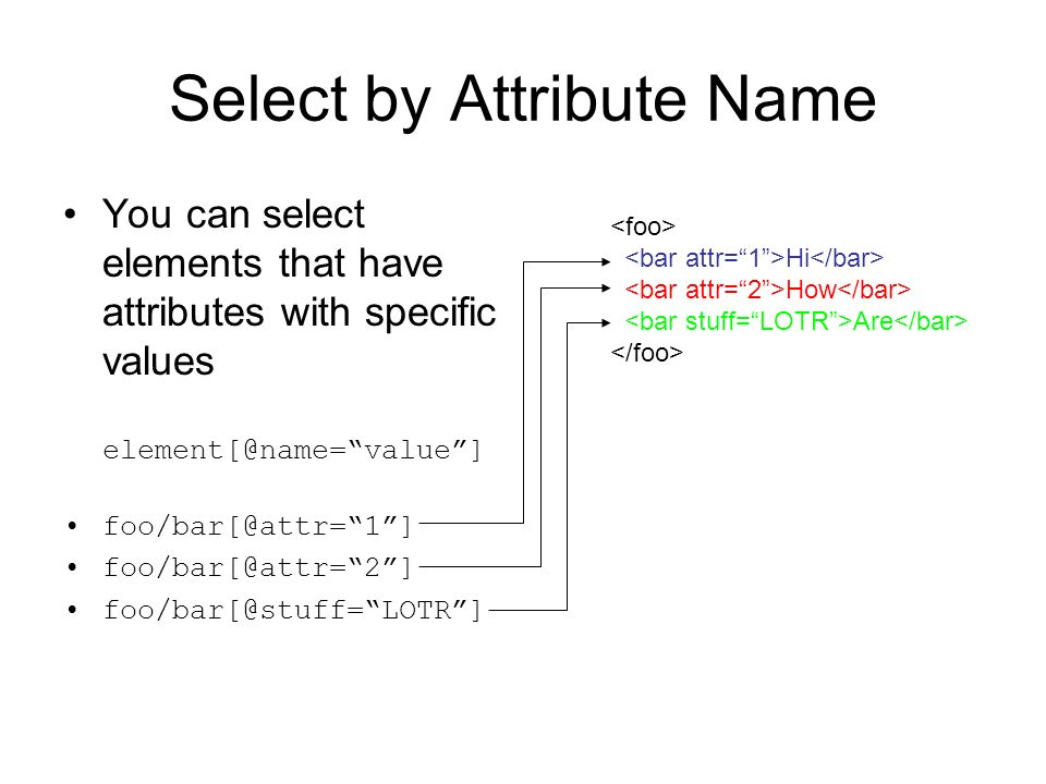 Select by Attribute Name