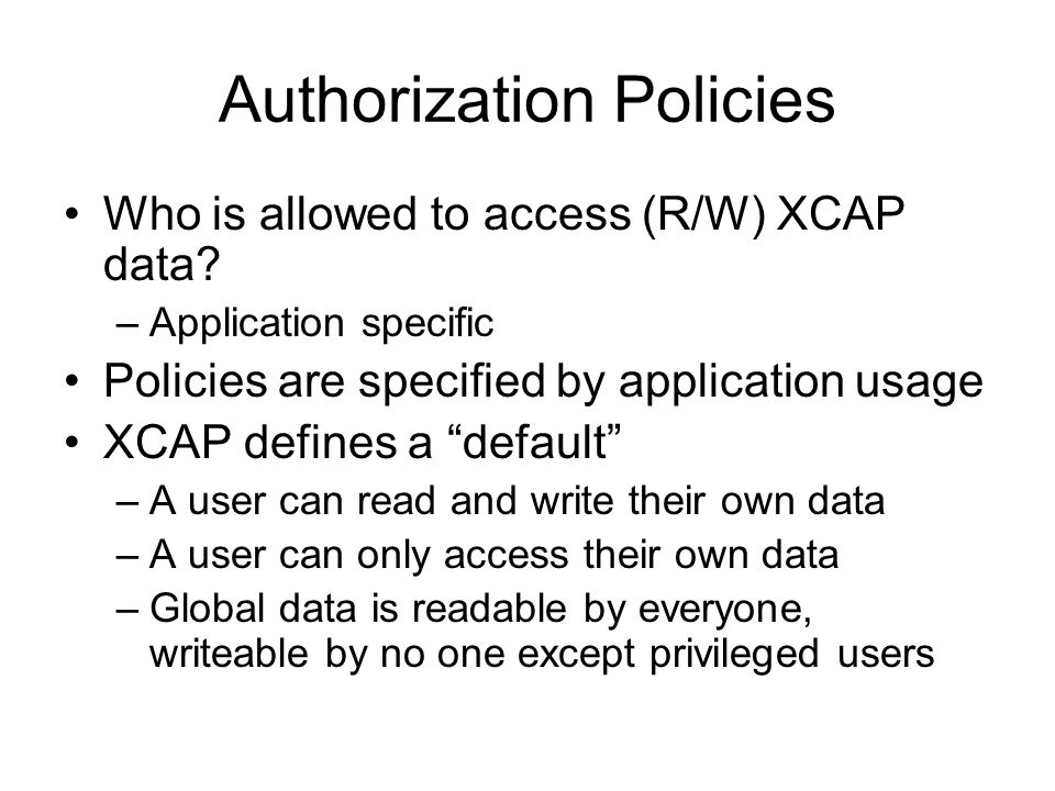 Authorization Policies