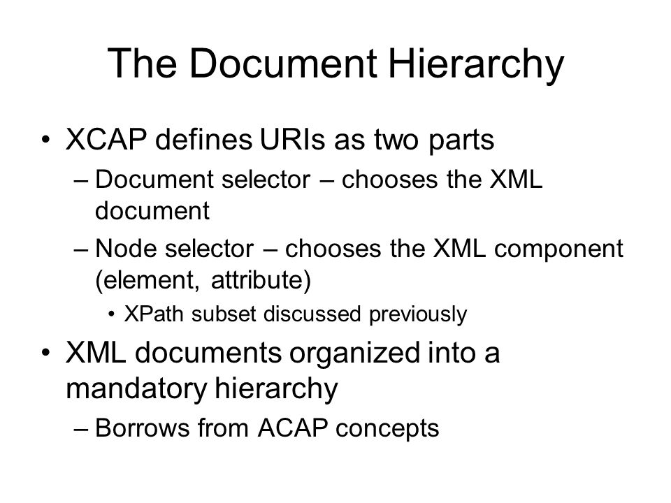 The Document Hierarchy