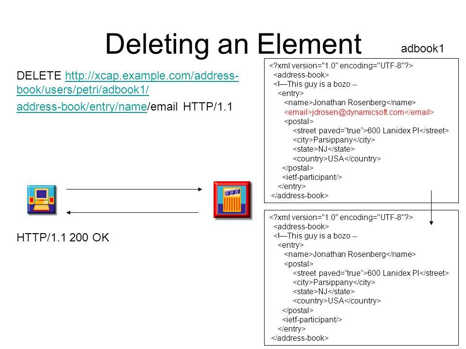 Deleting an Element adbook1