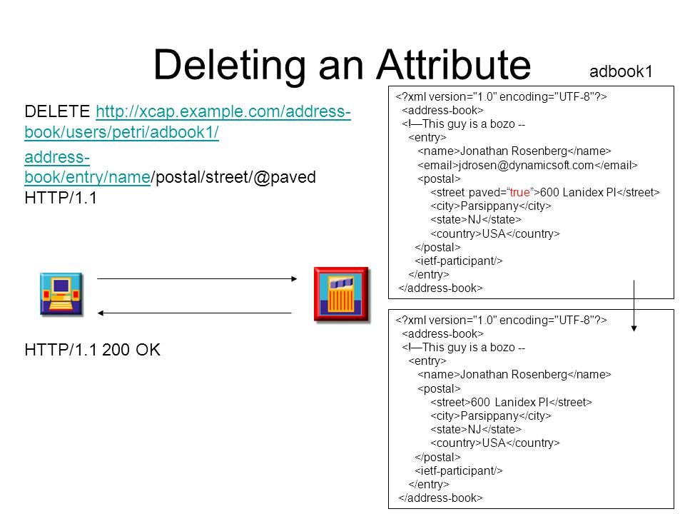 Deleting an Attribute adbook1