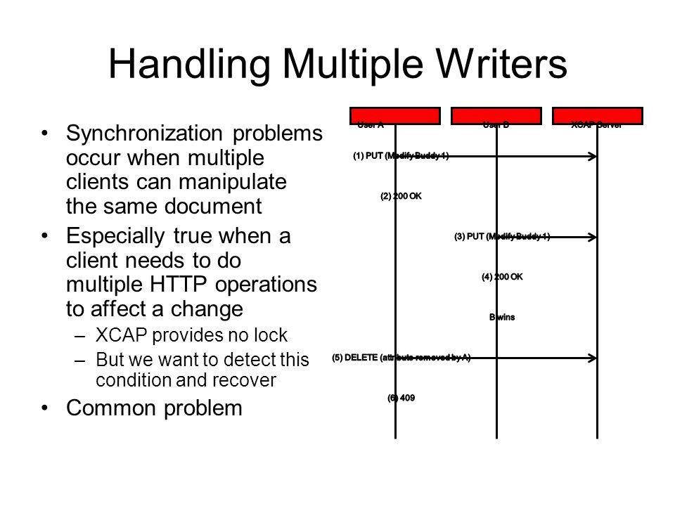 Handling Multiple Writers