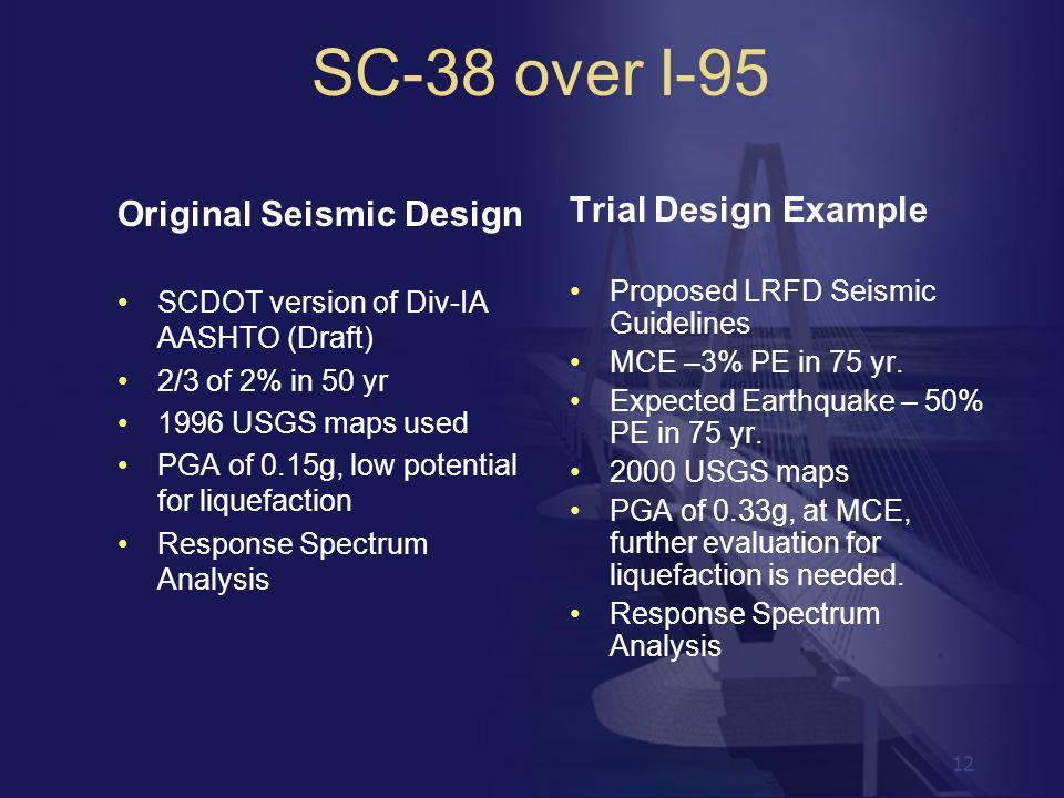 SC-38 over I-95 Original Seismic Design Trial Design Example