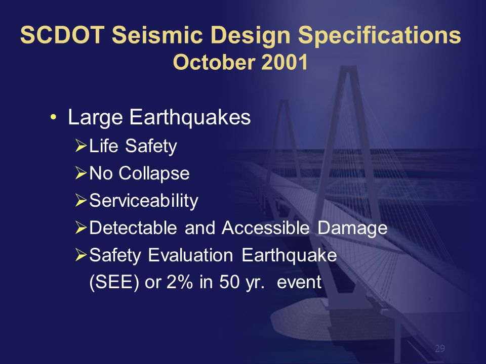 SCDOT Seismic Design Specifications