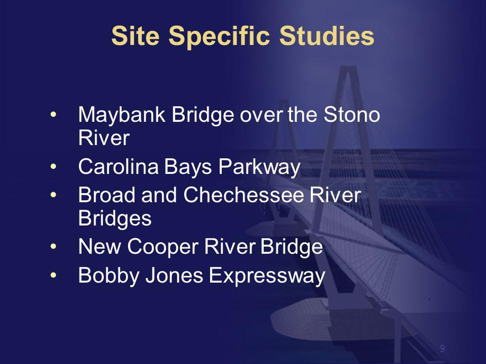 Site Specific Studies Maybank Bridge over the Stono River