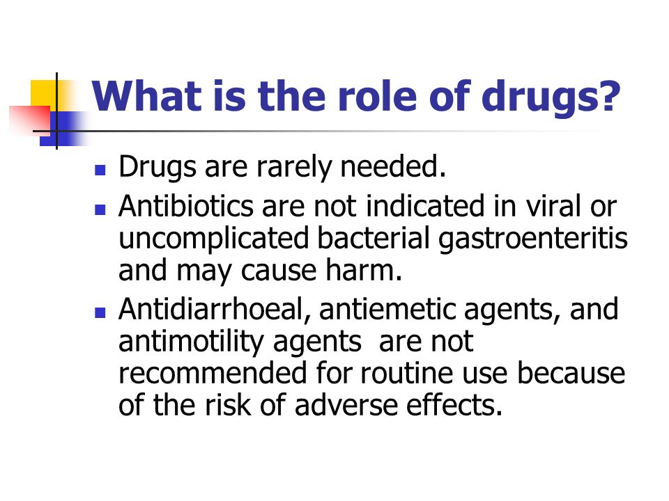 The role of drugs in the