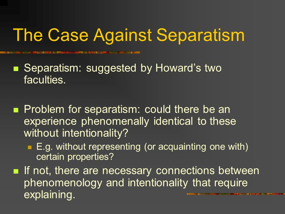 The Case Against Separatism