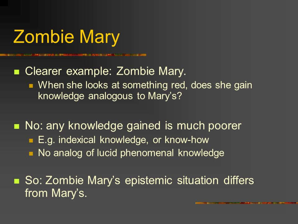 Zombie Mary Clearer example: Zombie Mary.