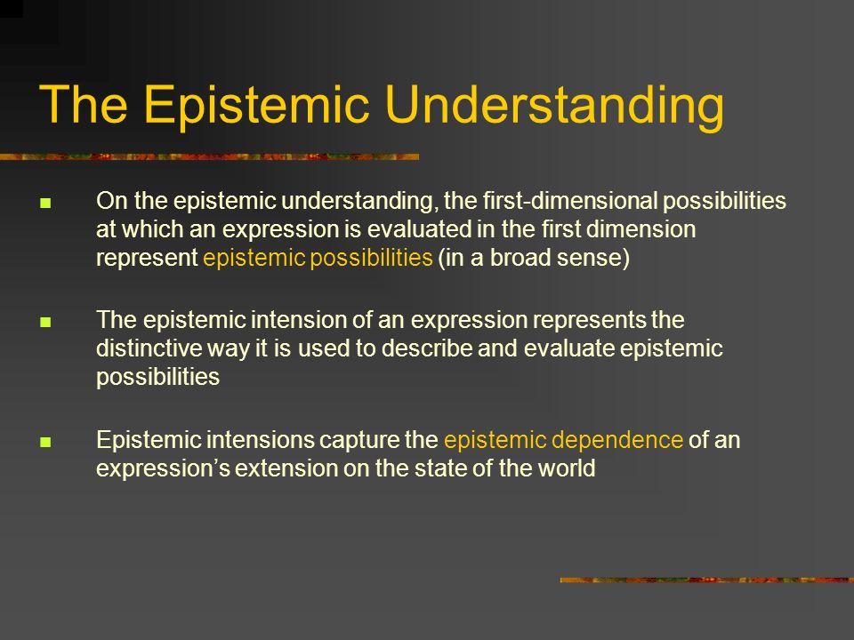The Epistemic Understanding
