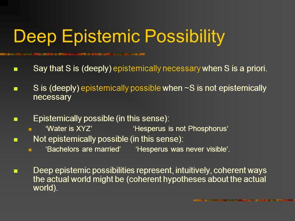 Deep Epistemic Possibility