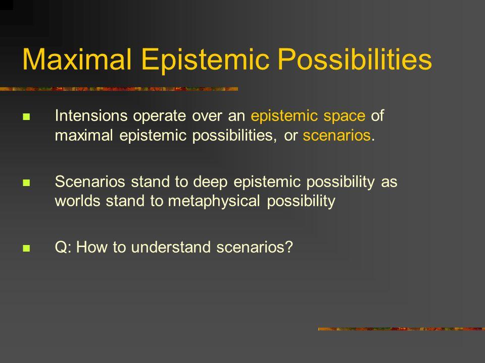 Maximal Epistemic Possibilities