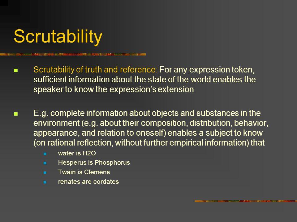 Scrutability