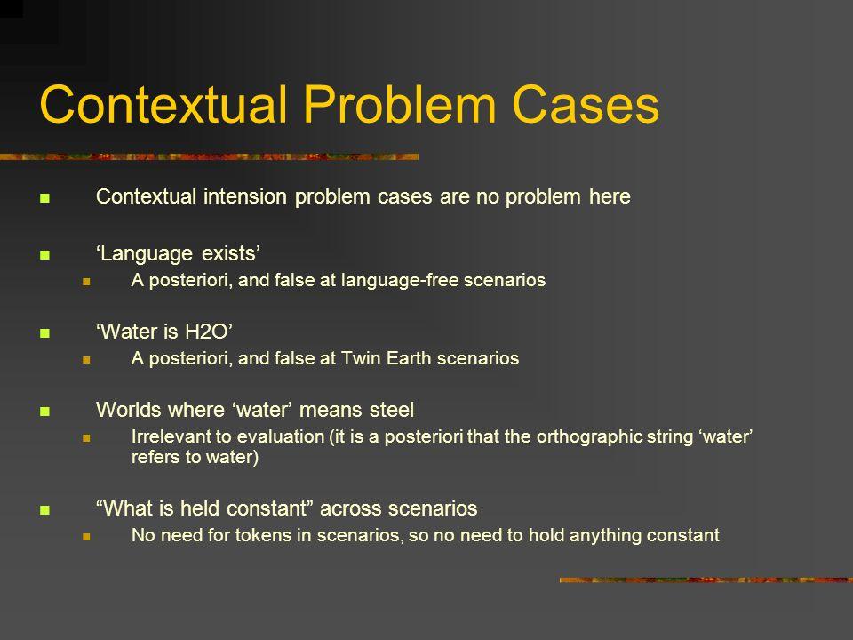 Contextual Problem Cases