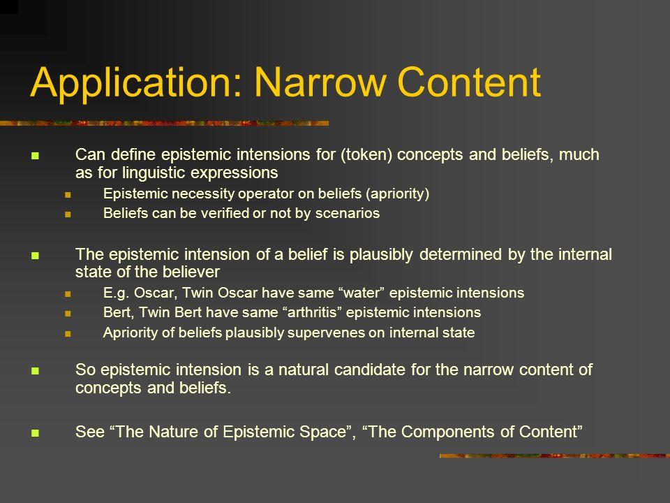 Application: Narrow Content