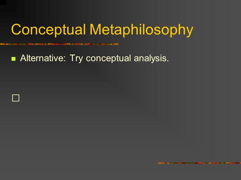 Conceptual Metaphilosophy
