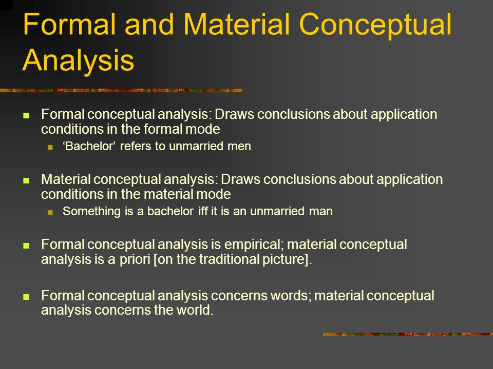 Formal and Material Conceptual Analysis
