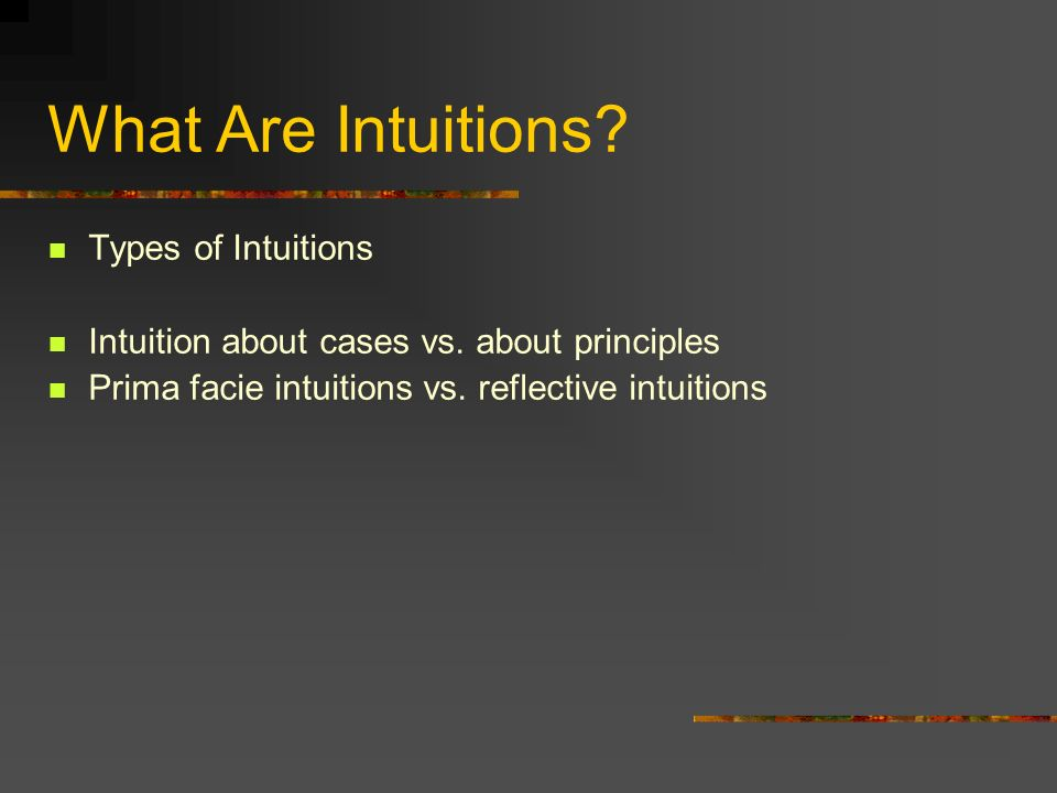 What Are Intuitions Types of Intuitions