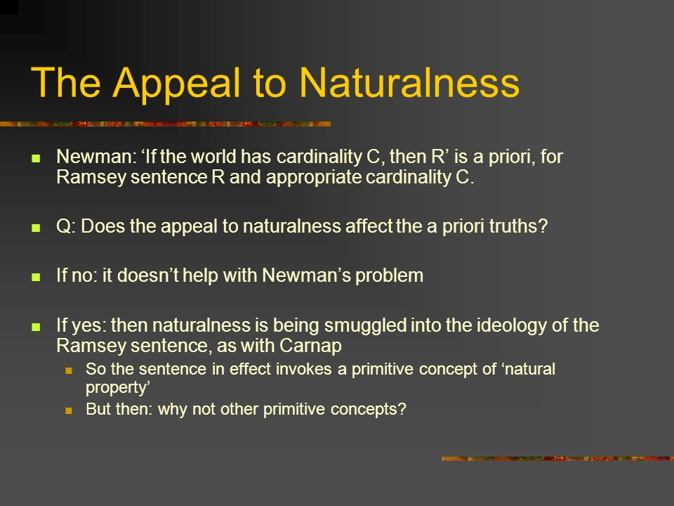 The Appeal to Naturalness
